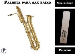 Palheta Para Sax Baixo Shield Tradicional